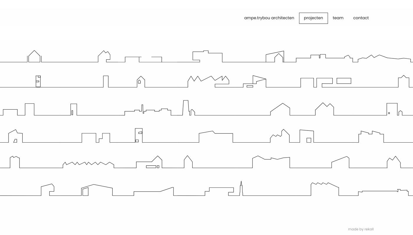Ampe Trybou - Projects - Rekall - Webdesign & development by