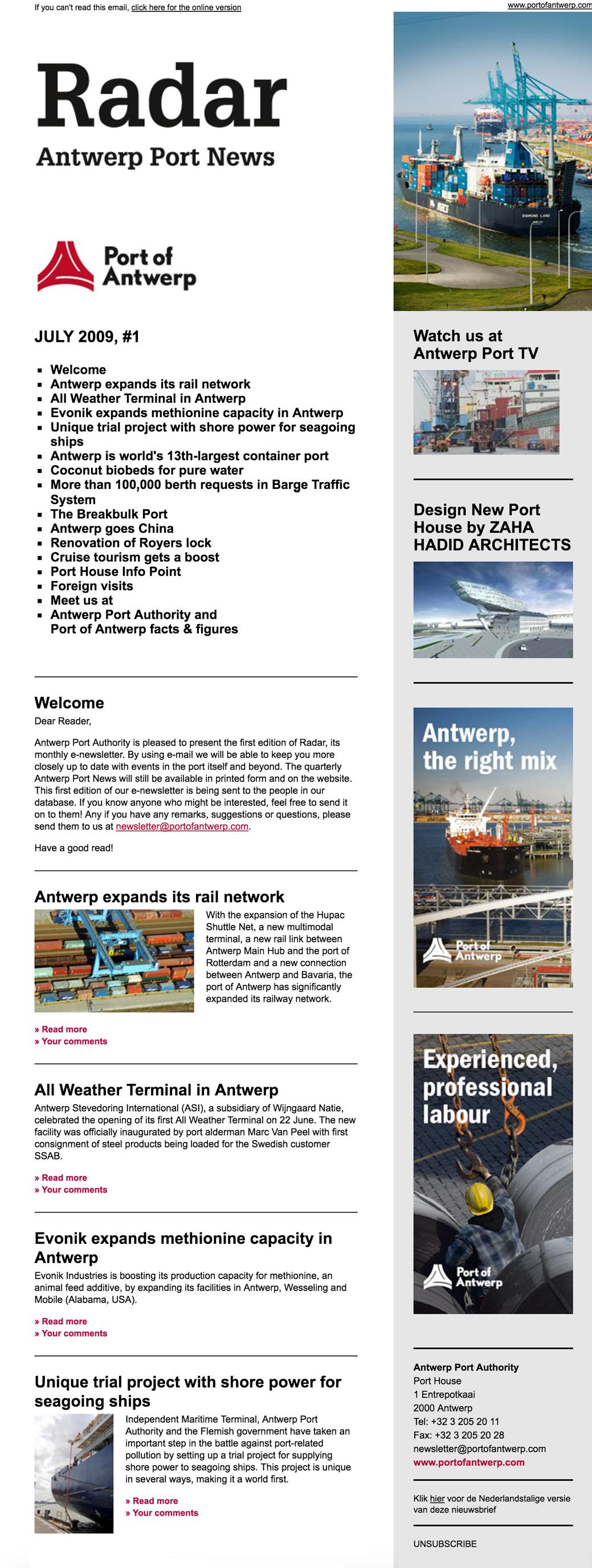 Port of Antwerp - Projects - Rekall - Webdesign